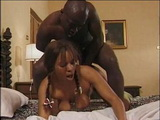 Sleeping Ebony In Periods With Tampon Fucked By Black Brother In Her Ass