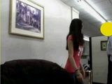 Amateur American Asian Teen Having Fun at Work and Gets Interrupted By Boss In The Office