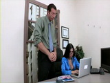 Boss Blackmailed Secretary  Rebeca Linares With Her Porn Photos