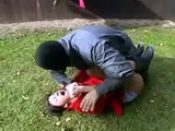 Brutal Backyard Rape