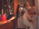 Stupid Husband Did Not Even Think That His Best Friend Fucking His Wife While His Knocking On The Door  Ayaka Tomoda