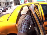 Sexy Charli gets her sweet tight ass banged from behind at the backseat