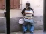 Mature Arab Couple Fucking On The Street Taped By Voyeur From The Window