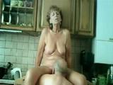 Amateur Granny And Grandpa Fucks In Kitchen
