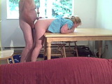 Amateur Mature Wife Fucked and Spanked on Table