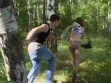 Teen In Pantyhose Gets Raped In The Forest