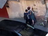 Big Butchers Wife Caught Fucking His Nephew In The Alley While People Are Passing By