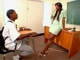 Ebony Cougar Milf Sex Teacher Fucks Young BBC Student In Classroom