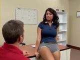 Cougar Milf Sunshine Seiber Fucks Guy at her Office