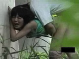 Voyeur Tapes Japanese Teenagers Fucking Outdoor and Was Caught At The End 2