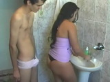 Funny Guy Sneaks Out On His Sister In Law While Brushing Teeth