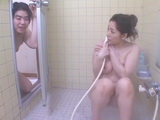 Immodest Stepson Enters Bathroom While His Step Mother Ayane Asakura Was Taking Bath