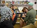 Two Store Workers Brutally Fucked Under Gun Threat By Masked Robbers