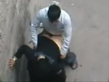 Arab Hijab Wife Caught Fucking And Cheating On Her Husband In An Alley For Money