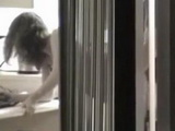 Voyeur Tapes The Neighbor Girl Fucking In The Kitchen