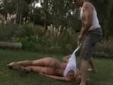 Unsatisfied Gardener Brutally Anal Rapes Wife Of His Boss In the Garden