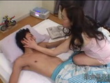 Old Japanese Mom Gives Pleasure to Young Boy xLx