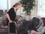 Horny Granny Asked Husbands Nephew For Favor