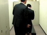 Blackmailed Office Lady Fucked at Locker Room