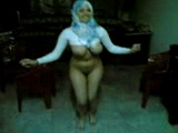 Busty Muslim Hijab Arab Girl Dancing Naked