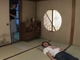 Sleeping Boy Gets Swooped and Fucked By His Lustful Stepmother Rino Sekiguchi