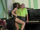 Old Piano Teacher Gets Cornered By His Horny Milf Student