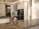 Girlfriend Catch Boyfriend Spying  Dad And Stepmom From Kitchen