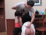 Russian Maid Fuck Young Boss