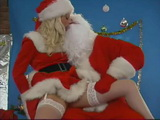 Santa Claus Fucks Blonde Santa Helper By The Christmas Tree