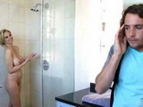 Step Son Accidentally Walked On Busty MILF Mom Showering