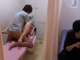 Japanese Teen Gets Fucked at The Massage While Her Bf Waits For Her Beyond The Curtain