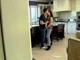 Sweet Brunette Gets Pounded on Kitchen Table