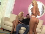 Slutty Blonde MILF Mom Teaches Not Her Daughter How To Please Boys
