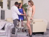 Proud On Her Hubby Milf Wife Invited Her Friend To Brags About His Big Cock