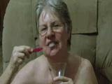 Amateur Granny Cum Toothbrush