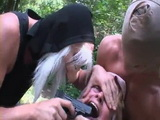 Two Punks Brutally Raped Poor Granny In The Forest  Rape Fantasy
