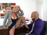 Bitchy MILF Boss Make Her Assistant to Cheats On His Pregnant Wife