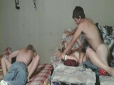 Fucking Eachothers Teen GF In A Foursome
