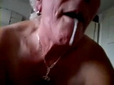 Busty Amateur Grayhaired Granny Blows Grandpa Gets Mouthful and Swallows Cum Homemade