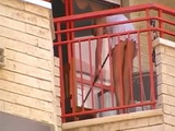 Voyeur Tapes From the Street Someones Wife Cleaning Balcony Without Panties