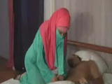 Horny Arab Chick Wakes Him Up to Fuck