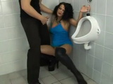 Street Whore Swooped And Roughly Fucked In Public Toilet By Stranger