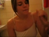 Amateur Cutie Blows and Gets Fucked In Bathroom