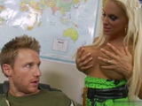 Senior Officer Sent Him A Busty Blonde Whore As A Reward For Being Best Soldier Of Month