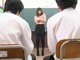 Blackmailed Teacher Yuki Touma Forced To Do Striptease Infront of Whole Class