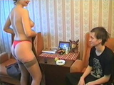 Nerd Teen Stepbrother Gets Tempted and Fucked By His Elder Slutty Stepsister
