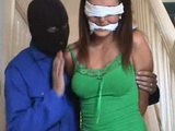 Home Alone Brunette Blindfolded And Raped By Masked Burglar
