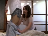 Busty Mother Kitabori Takumi Awakes and Helps Her Son Get Ready For School