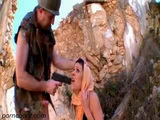 American Soldier Showing No Mercy To Captured Enemy Arab Girl