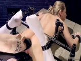 Tied Up In Dark Basement Blonde Girl Suffers Terrible Torture